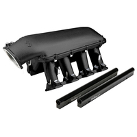 HOLLEY BLACK HI RAM EFI INTAKE MANIFOLD + FUEL RAILS FOR GM LS3 L92 HO300-117BK