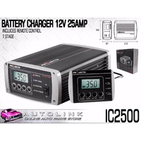 PROJECTA IC2500 BATTERY CHARGER 12V 25A 7 STAGE SWITCHMODE - LCD SCREEN REMOTE
