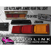 JUMBO LED TRAILER TAIL LIGHT REAR COMBINATION LAMP 12V & 24V VOLT J3BARRM PAIR