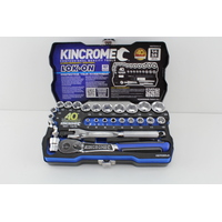 "KINCROME K27030LE LOK-ON SOCKET SET 26 PIECE 1/4"" & 3/8"" SQUARE DRIVE LIMITED"