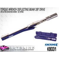 "KINCROME TORQUE WRENCH DEFLECTING BEAM 3/8"" DRIVE 10-90 FT/LB 10-120NM K8031"
