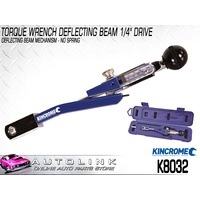 "KINCROME TORQUE WRENCH DEFLECTING BEAM 1/4"" DRIVE 50-200 IN/LB 5-25NM K8032"