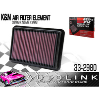 K&N AIR FILTER ELEMENT FOR NISSAN NAVARA 2.5lt 2005 - 2011 ( 33-2980 )