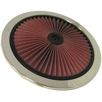 "K&N 14"" X-STREAM AIR FILTER TOP LID PLATE CHROME HIGH FLOW WASHABLE KN66-1401XP"