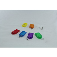 PLASTIC LUGGAGE KEY ID TAG MIXED COLOURS - SOLD AS EACH