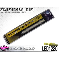 DNA 20CM LED LIGHT BAR - 12 LED 12V 200mm x 18mm x15mm, 2 METRE CABLE ( LED1220 )