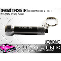 EXELITE 5 LED KEYRING TORCH - HIGH POWER ULTRA BRIGHT (METAL HOUSING) BATT INC
