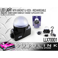 OEX LLX70001 LED RECHARGEABLE LIGHT DOME STYLE WITH MAGNET BASE 100 x 90 x 58mm