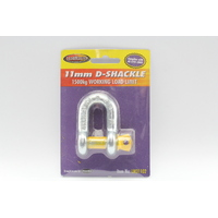 LOADMASTER 11mm D SHACKLE 1500kg WORKING LOAD LIMIT - TRAILER CARAVAN LM31102 x1