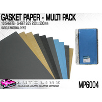 PERMASEAL GASKET SHEET MULTI PACK - 10 SHEETS OF 250x500mm ( VARIOUS GRADES )