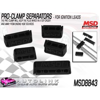 MSD 8843 PRO CLAMP IGNITION LEAD WIRE SEPARATORS - SET OF 8 BLACK