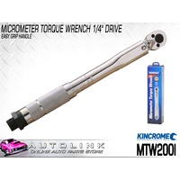 "KINCROME MICROMETER TORQUE WRENCH 1/4"" DRIVE 275mm 2.0-24.0 NM MTW200I"