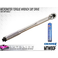 "KINCROME MICROMETER TORQUE WRENCH 3/8"" DRIVE 5-80 FT/LB 6.8-108.5 NM MTW80F"