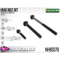 NASON HEAD BOLT SET FOR HOLDEN STATESMAN CAPRICE WH WHII 5.7L GENIII LS1 V8
