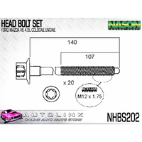 HEAD BOLT SET FOR MAZDA B4000 4.0L V6 2005-2006 (SET OF 20) NHBS202
