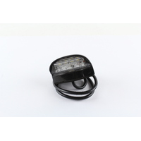 LED LICENCE PLATE LAMP 9-33V SEALED UNIT WITH BLACK HOUSING L:70MM H:45MM
