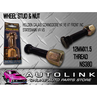 FRONT WHEEL STUD & NUT SUIT HOLDEN COMMODORE CALAIS STATESMAN VR VS VT SERIES 1