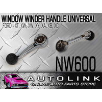 CHROME WINDOW WINDER BLACK RUBBER KNOB SUIT FORD FALCON XT XW XY XA XB XC x1