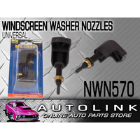 NICE NWN570 UNIVERSAL WINDSCREEN WASHER JET RIGHT ANGLE TWIN SPRAY BOLT ON