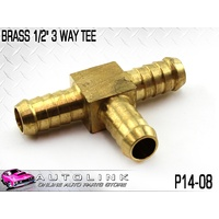 "BRASS 1/2"" 3 WAY HOSE TEE ( P14-08 ) AIR LINE & COMPRESSOR FITTING"