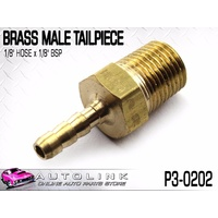 "BRASS MALE TAILPIECE 1/8"" HOSE END / 1/8"" BSP THREAD ( P3-0202 ) x1"