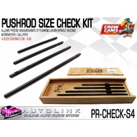 CROW CAMS PUSHROD SIZE CHECK KIT 4 PIECE BOXED SET COVERING: 5.80 - 9.80
