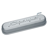 PROFORM CAST ALLOY ROCKER COVERS GRAY WITH LOGO - CHEV LS 5.7L 6.0L V8 PR141-263