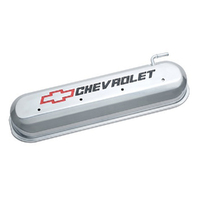PROFORM CAST ALLOY VALVE COVERS POLISHED WITH LOGO FOR CHEV LS V8 ENGINES