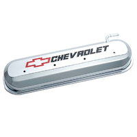 PROFORM CAST ALLOY ROCKER COVERS CHROME WITH LOGO FOR CHEVROLET LS SERIES V8