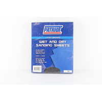 WET & DRY SANDING SHEETS - 100 GRIT 230mm x 280mm ( PACK OF 50 SHEETS )