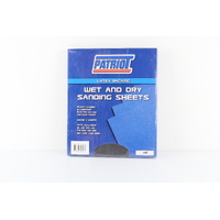PATRIOT PSS180GL WET & DRY SANDING PAPER SHEETS - 180 GRIT 230mm x 280mm x50