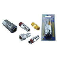 "AIR FITTING QUICK COUPLING 5 PIECE SET 1/4"" BSP NITTO TYPE FITTING QUALITY METAL"