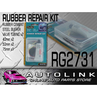 PRO-KIT RG2731 MOUNTAIN BIKE BMX TUBE RUBBER REPAIR KIT x5 PATCHES PLASTIC CASE