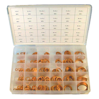 COPPER WASHER ASSORTMENT 540 PIECE METRIC KIT - RESEALABLE PLASTIC CASE