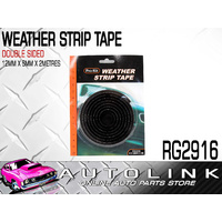 PROKIT RG2916 WEATHER STRIP FOAM TAPE BLACK 12mm WIDE 6mm THICK - 2 METRE ROLL