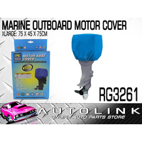 MARINE OUTBOARD MOTOR COVER - XLARGE BLUE POLYESTER + PVC 90cm x 60cm x 80cm