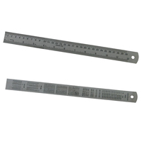 "STAINLESS STEEL RULER 30cm OR 12"" - METRIC / IMPERIAL WITH CONVERSION CHART"