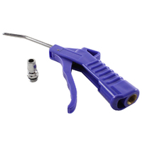 AIR BLOWER GUN - PISTOL GRIP TYPE WORKS WITH ALL POPULAR COMPRESSOR FITTINGS