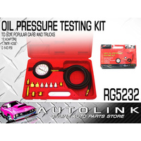12 PIECE OIL PRESSURE TESTER 0-140psi / 0/10 BAR GAUGE 12 ADAPTERS 1.7m HOSE