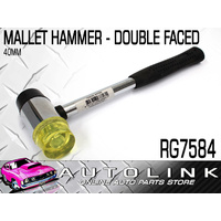 PROKIT RG7584 SOFT FACED MALLET HAMMER 40mm - DOUBLE RUBBER / HARDENED PLASTIC