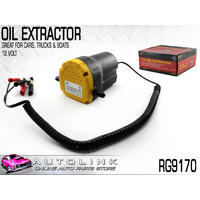 OIL EXTRACTOR PUMP 12V - 3 LITRES PER MINUTE, ATTACHES DIRECT TO CAR BATTERY