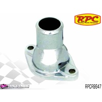RPC CHROME STEEL STRAIGHT THERMOSTAT HOUSING SUIT CHEV SB & BB V8 RPCR9647