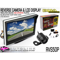 DNA 5 INCH REARVIEW LCD HD MONITOR 2xVID INPUT 800x400 RES, WITH REVERSE CAMERA