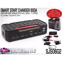 SMART JUMP START CHARGER 12V 600A STARTS DIESEL & PETROL CHARGE SAMSUNG MOBILES