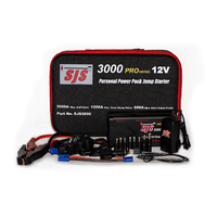 SJS SJS3000 PRO PERSONAL POWER PACK JUMP STARTER CHARGER LITHIUM POWER 3000 AMP