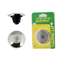 CPC FUEL CAP LOCKING CHROME FINISH 41.5mm NECK 67mm CAP FACE DIA, ( SL26EC )