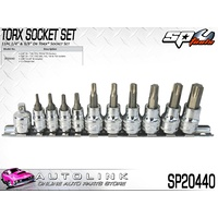 "SP TOOLS SOCKET RAIL SET - 11PC 1/4"" & 3/8""DR - TORX ( SP20440 )"