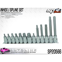 "SP TOOLS SOCKET RAIL SET - 13PC 1/2""DR - INHEX/SPLINE METRIC ( SP20566 )"