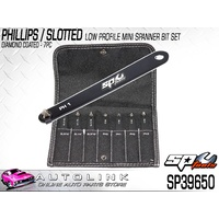 SP TOOLS 7PC PHILLIPS / SLOTTED DIAMOND COATED LOW PROFILE MINI SPANNER BIT SET