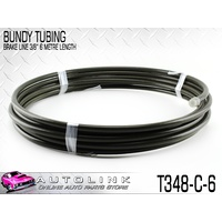 "BUNDY TUBING ( STEEL BRAKE LINE ) 3/8"" 9.53mm 6 METRE ROLL T348-C-6"